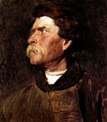 Head of peasant | Ilia Efimovich Repin | oil painting