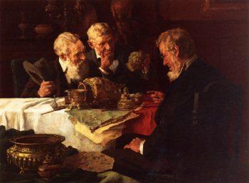 The Appraiser | Louis C Moeller | oil painting