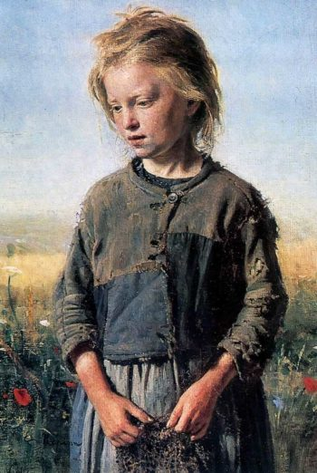 Fisher Girl | Ilia Efimovich Repin | oil painting