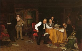 The Bibliomaniacs | Louis C Moeller | oil painting