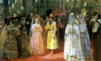 Choosing a Bride for a Grand Duke   Ilia Efimovich Repin   oil painting