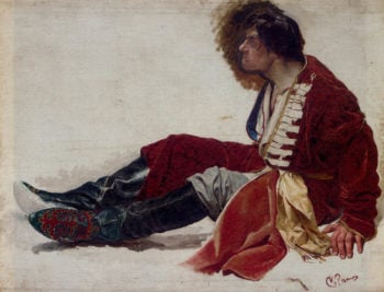 A Bemused Moment   Ilia Efimovich Repin   oil painting