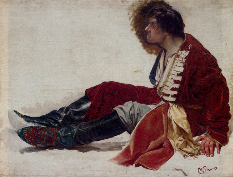 A Bemused Moment | Ilia Efimovich Repin | oil painting