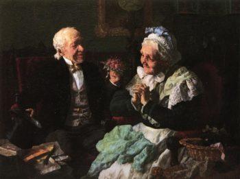 The Nosegay | Louis C Moeller | oil painting