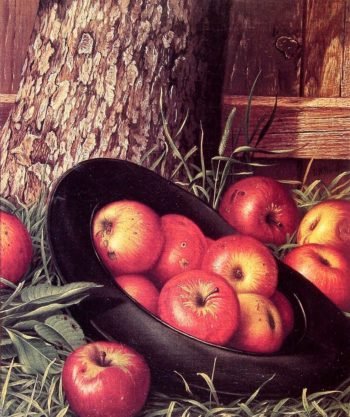 Still Life of Apples in a Hat | Levi Wells Prentice | oil painting