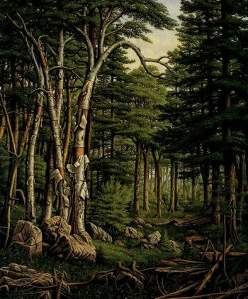 White Birches of the Racquette | Levi Wells Prentice | oil painting