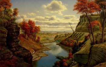 The Gorge at Letchworth Park | Levi Wells Prentice | oil painting