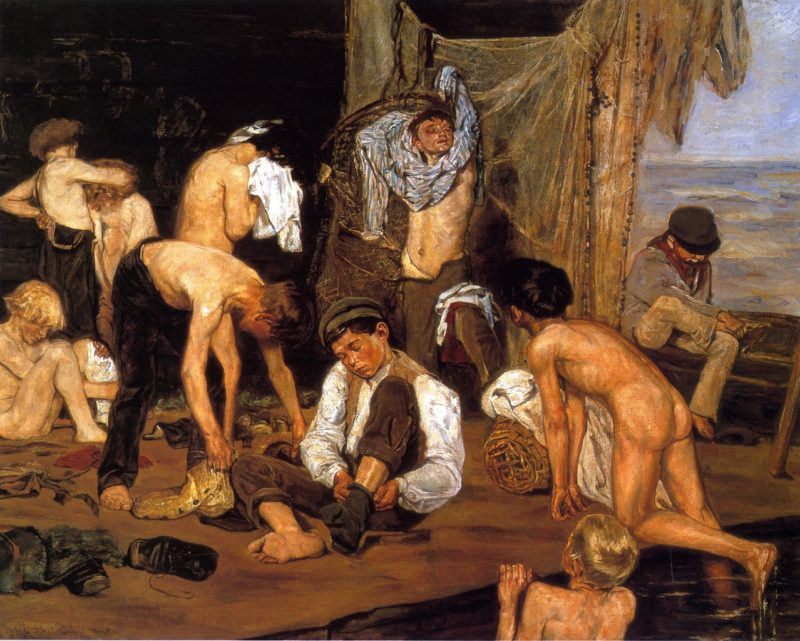 At the Swimming Hole | Max Liebermann | oil painting