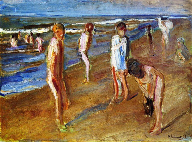 Bathers Ogunquit Beach Maine | Max Liebermann | oil painting