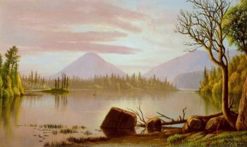 Sunrise on an Adirondack Lake | Levi Wells Prentice | oil painting