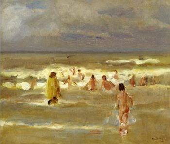 Bathing Boys   Max Liebermann   oil painting