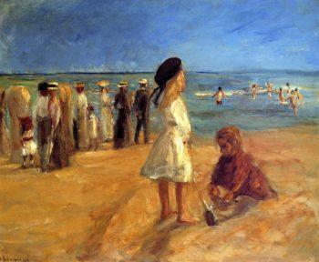 Beach Scene in Noordwijk   Max Liebermann   oil painting