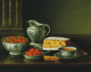 Still LIfe with Strawberries | Levi Wells Prentice | oil painting