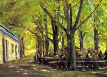 Beer Garden in Brannenburg | Max Liebermann | oil painting