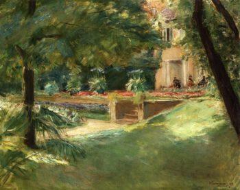 Blick auf die Blumenterasse im Wannseegarten Nach Sudwesten | Max Liebermann | oil painting