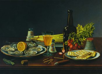 Still LIfe with Oysters | Levi Wells Prentice | oil painting