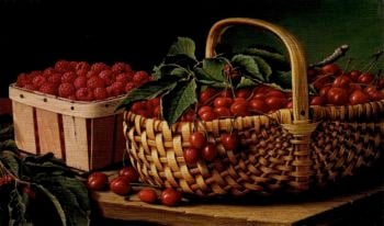 Still Life with Berries | Levi Wells Prentice | oil painting