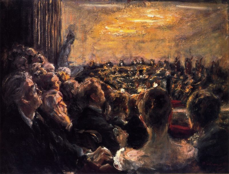 Concert in the Opera House   Max Liebermann   oil painting