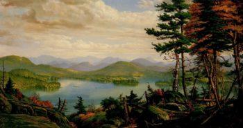 Smiths Lake Adirondacks NY | Levi Wells Prentice | oil painting