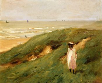 Dune near Nordwijk with Child | Max Liebermann | oil painting