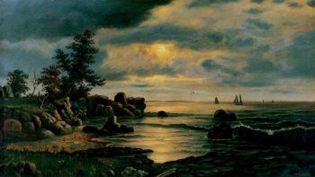 Seascape at Dusk | Levi Wells Prentice | oil painting