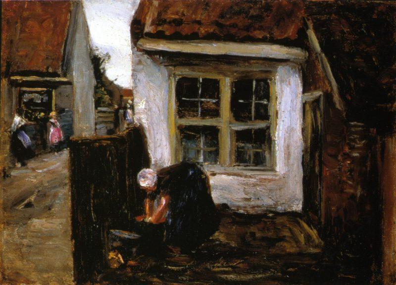 Dutch Farmhouse with Woman | Max Liebermann | oil painting
