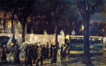 Evening at Brandenburg Gate   Max Liebermann   oil painting