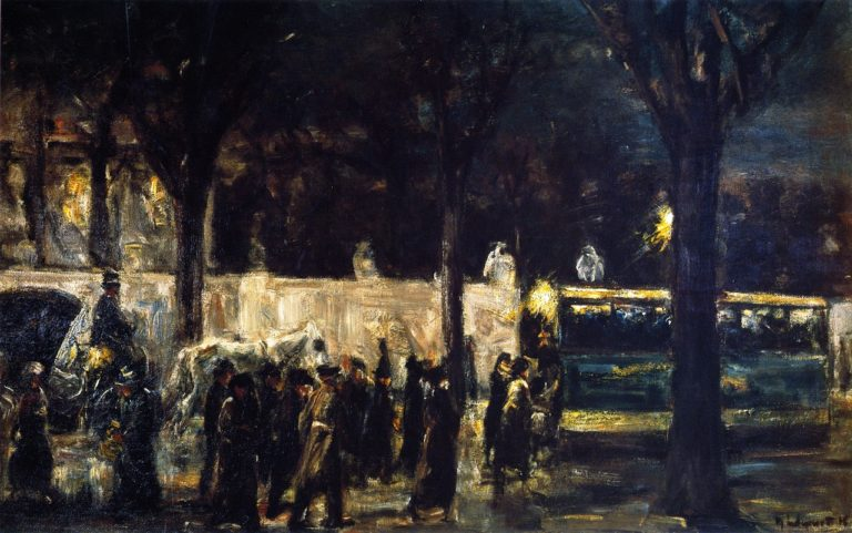 Evening at Brandenburg Gate | Max Liebermann | oil painting