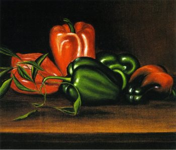 Red and Green Peppers | Levi Wells Prentice | oil painting