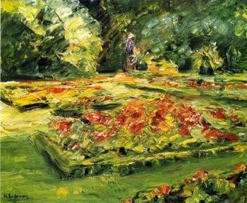 Flower Terrace in the Wannsee Garden Facing East   Max Liebermann   oil painting