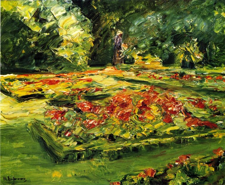 Flower Terrace in the Wannsee Garden Facing East | Max Liebermann | oil painting