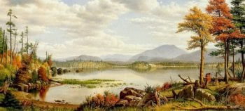 Raquette Lake The Start of Autumn NY | Levi Wells Prentice | oil painting