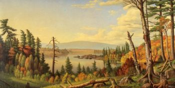 Raquette Lake from Woods Clearing Adirondacks NY | Levi Wells Prentice | oil painting