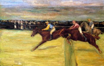 Horserace at Cascina | Max Liebermann | oil painting