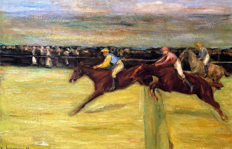 Horserace at Cascina | Max Liebermann | oil painting