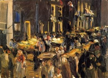 Jewish Quarter in Amsterdam | Max Liebermann | oil painting