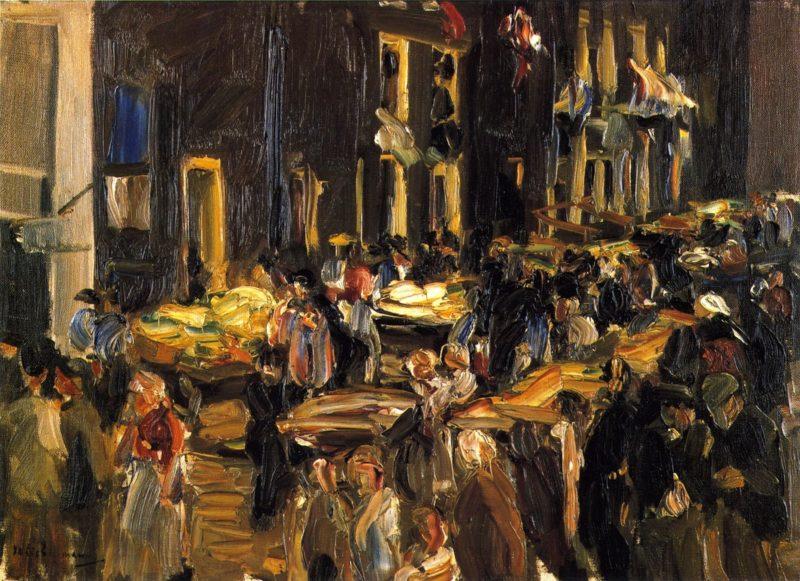Jewish Quarter in Amsterdam | Max Liebermann | oil painting