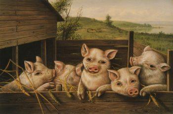 Pig Pen | Levi Wells Prentice | oil painting