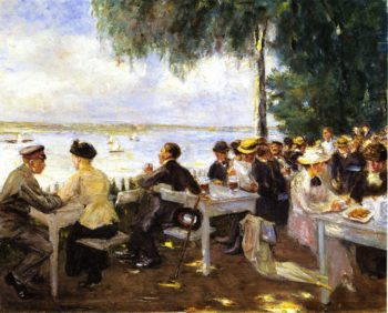 Outdoor Garden on the Havel Nikolskoe | Max Liebermann | oil painting