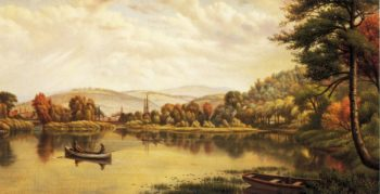 Boating in Autumn | Levi Wells Prentice | oil painting