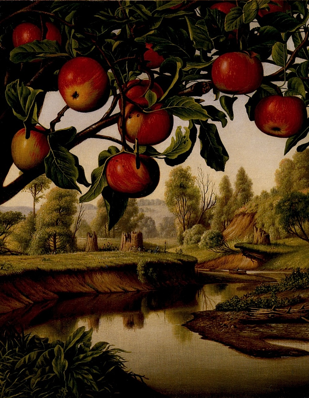 Landscape With Apple Tree Painting Levi Wells Prentice Oil Paintings