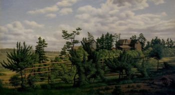 Landscape of Country Estate and Vineyards | Levi Wells Prentice | oil painting