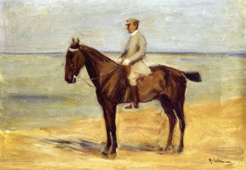 Rider on the Beach Facing Left | Max Liebermann | oil painting