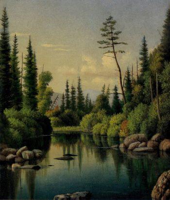 Mull Pond   Levi Wells Prentice   oil painting