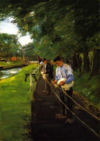 Ropewalk in Edam | Max Liebermann | oil painting