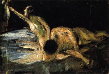 Samson and Delilah Study | Max Liebermann | oil painting