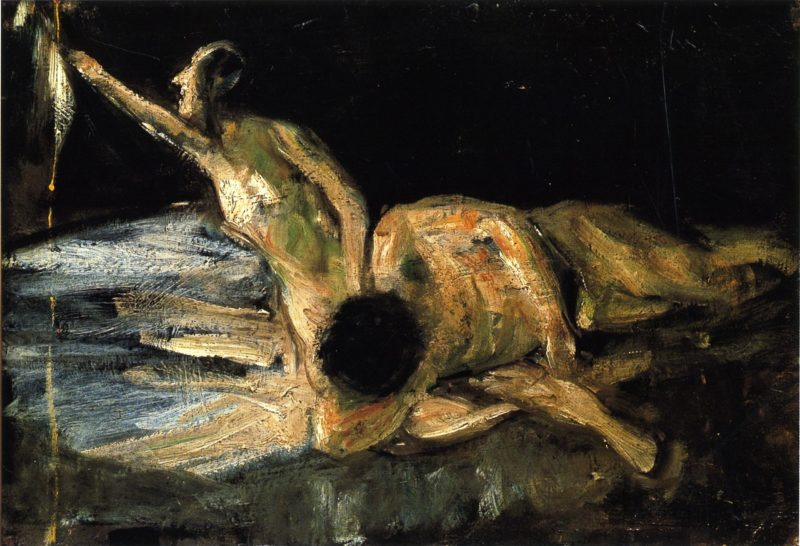 Samson and Delilah Study   Max Liebermann   oil painting
