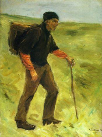 Schreitender Bauer | Max Liebermann | oil painting
