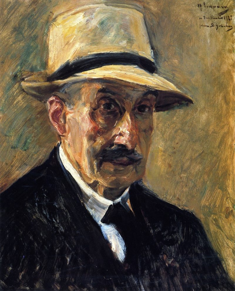 Self Portrait in a Straw Hat | Max Liebermann | oil painting