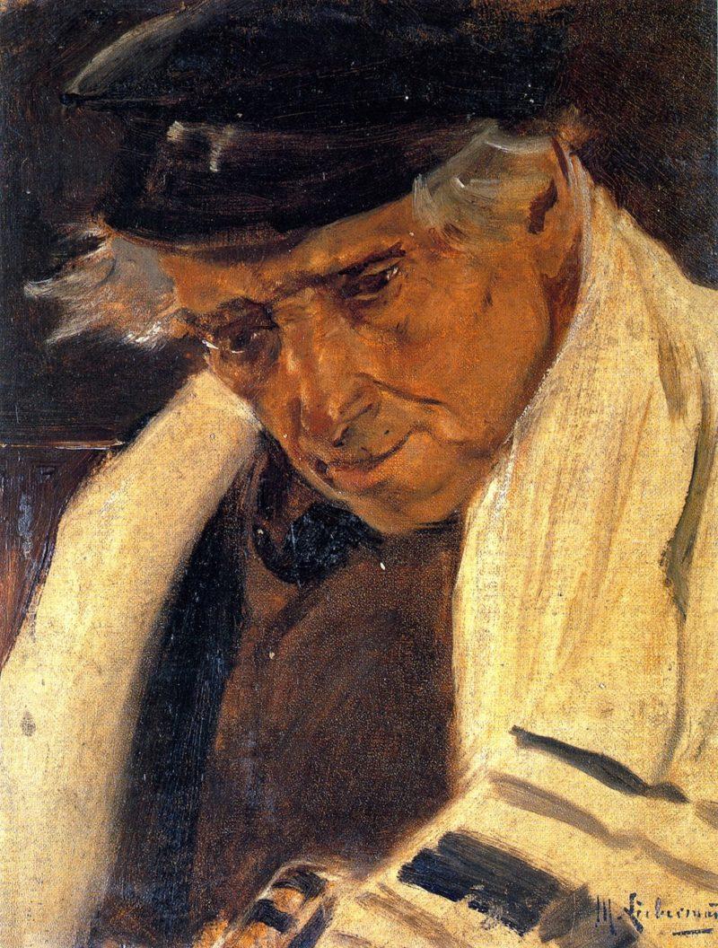 Study Head of a Man | Max Liebermann | oil painting